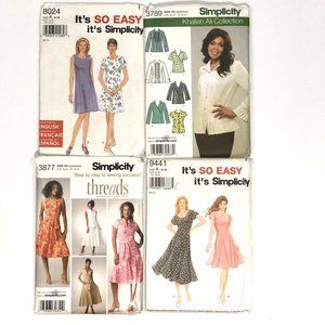 XS-M Sewing Pattern Bundle of 4